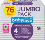 Babylove, Windeln 4+ Jumbo pack, 76ks